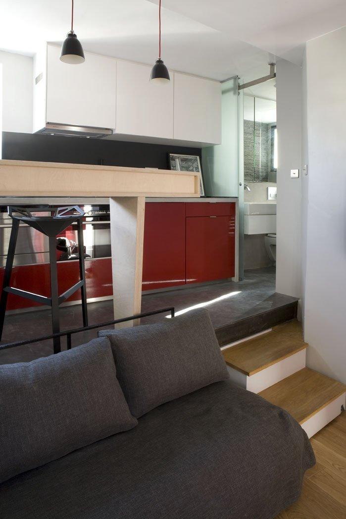 Фотография: Гостиная в стиле Современный, Лофт, Малогабаритная квартира, Квартира, Дома и квартиры – фото на INMYROOM