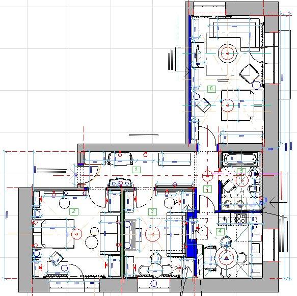 Фотография: Планировки в стиле , Проект недели, Москва, Сталинка, 3 комнаты, 60-90 метров, Инна Зольтманн – фото на INMYROOM