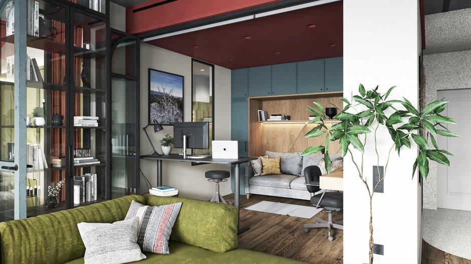 Фотография: Кабинет в стиле Эклектика, Квартира, Проект недели, Москва, ToTaste Studio, 3 комнаты, 60-90 метров – фото на INMYROOM