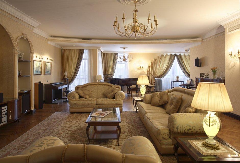 Фотография: Гостиная в стиле Прованс и Кантри, Классический, Современный, Квартира, Дома и квартиры, Модерн, Ар-нуво – фото на INMYROOM