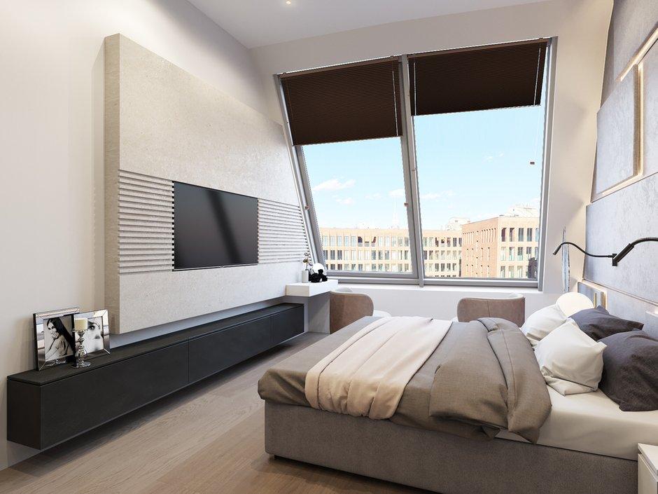 Фотография: Спальня в стиле Современный, Квартира, Проект недели, Москва, Шамсудин Керимов, новостройка, Монолитный дом, 3 комнаты, Более 90 метров – фото на INMYROOM