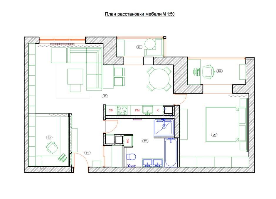 Фотография: Планировки в стиле , Квартира, Проект недели, Москва, Инна Усубян, Сталинка – фото на INMYROOM