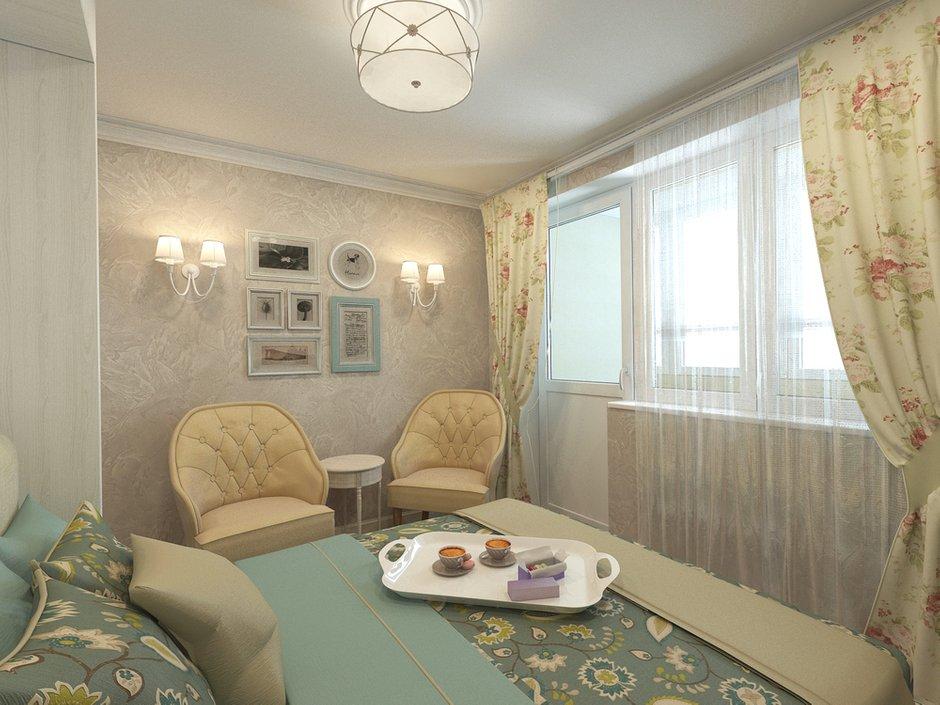 Фотография: Спальня в стиле Прованс и Кантри, Малогабаритная квартира, Квартира, Дома и квартиры, Проект недели – фото на INMYROOM