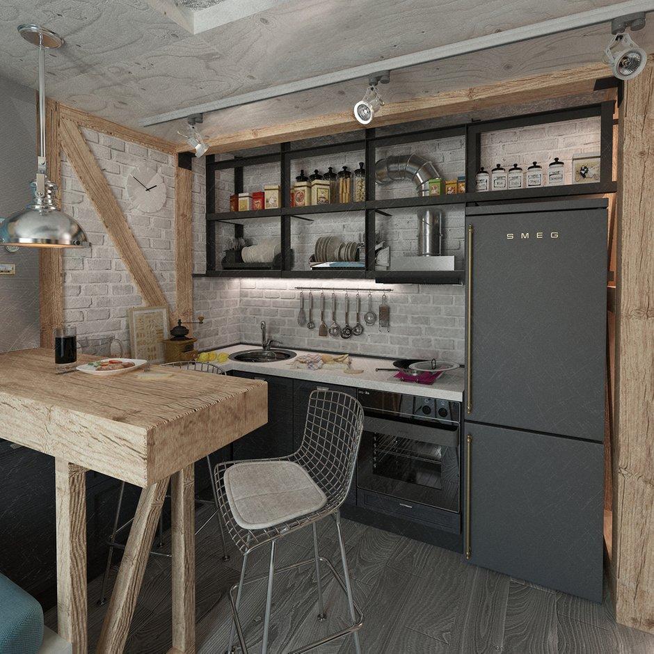 Фотография: Кухня и столовая в стиле Лофт, Квартира, Дома и квартиры, IKEA, Проект недели, Cosmorelax – фото на INMYROOM
