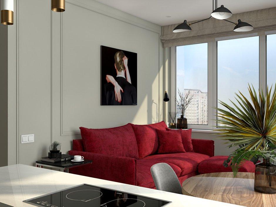Фотография: Гостиная в стиле Современный, Квартира, Проект недели, Москва, 1 комната, до 40 метров, Ольга Шакирова – фото на INMYROOM