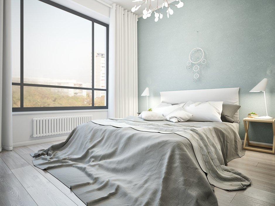 Фотография: Спальня в стиле Скандинавский, Квартира, Проект недели, Москва, двушка, Степан Бугаев, «Победа дизайна» – фото на INMYROOM