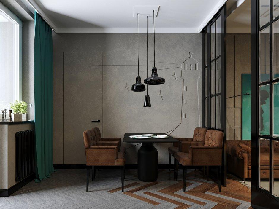 Фотография: Кухня и столовая в стиле Лофт, Квартира, Проект недели, Монолитный дом, 2 комнаты, 40-60 метров, ЖК «Маяк» – фото на INMYROOM