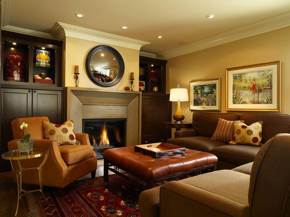 Фотография: Гостиная в стиле Классический, Современный, Декор интерьера, Квартира, Дом, Декор дома, Камин, Биокамин – фото на INMYROOM