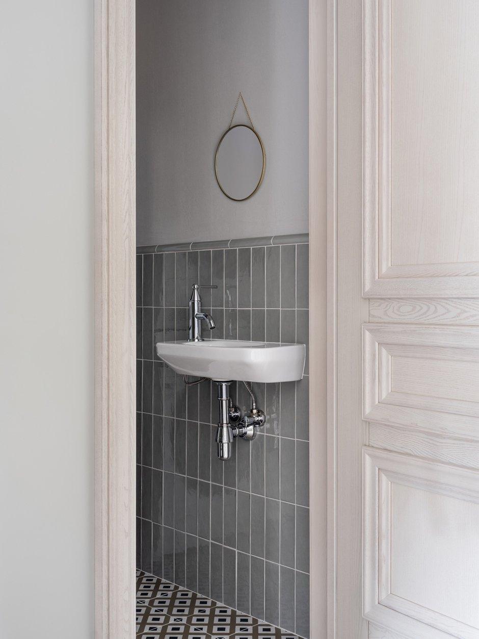 Фотография: Ванная в стиле Современный, Квартира, Проект недели, Санкт-Петербург, 3 комнаты, Более 90 метров, Светлана Оленбург – фото на INMYROOM