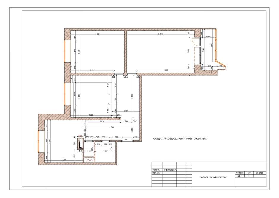 Фотография: Планировки в стиле , Квартира, Проект недели, Москва, П-44, Панельный дом, 3 комнаты, 60-90 метров, Анастасия Уфимцева – фото на INMYROOM