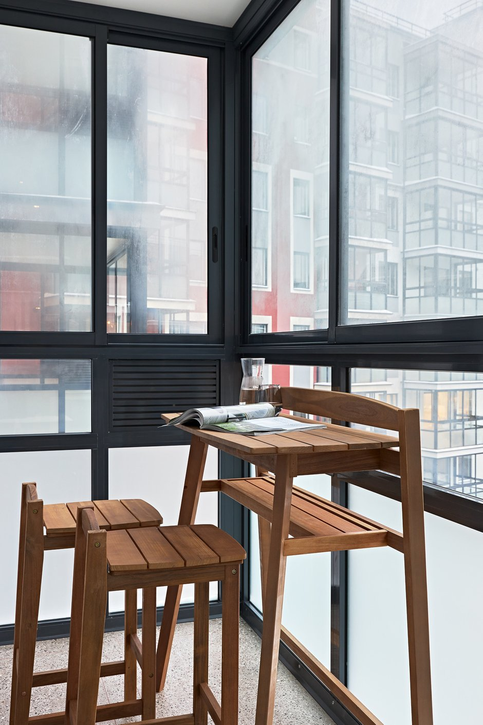 Фотография: Балкон в стиле Современный, Квартира, Проект недели, Санкт-Петербург, Ульяна Скапцова, 2 комнаты, 40-60 метров – фото на INMYROOM