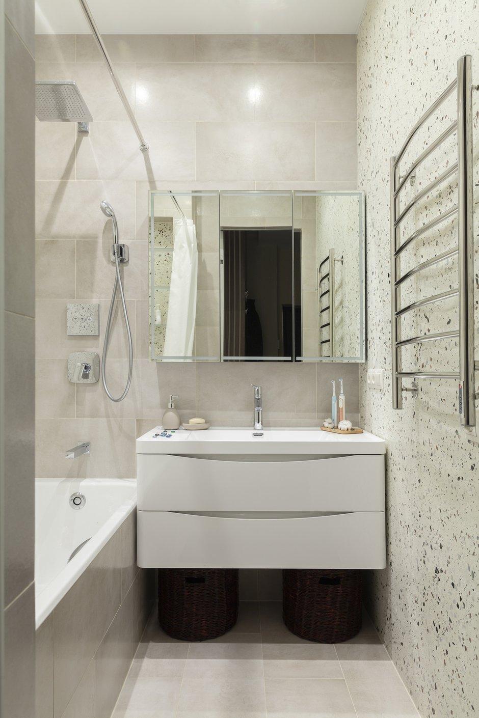 Фотография: Ванная в стиле Современный, Квартира, Проект недели, Москва, 2 комнаты, 60-90 метров, Мария Ничипоренко – фото на INMYROOM