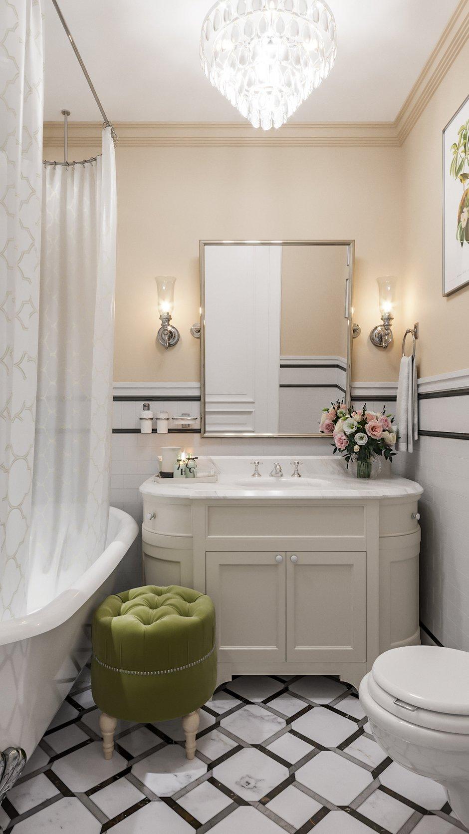 Фотография: Ванная в стиле Классический, Современный, Квартира, Москва, Монолитный дом, 3 комнаты, Более 90 метров, #эксклюзивныепроекты, True interior – фото на INMYROOM