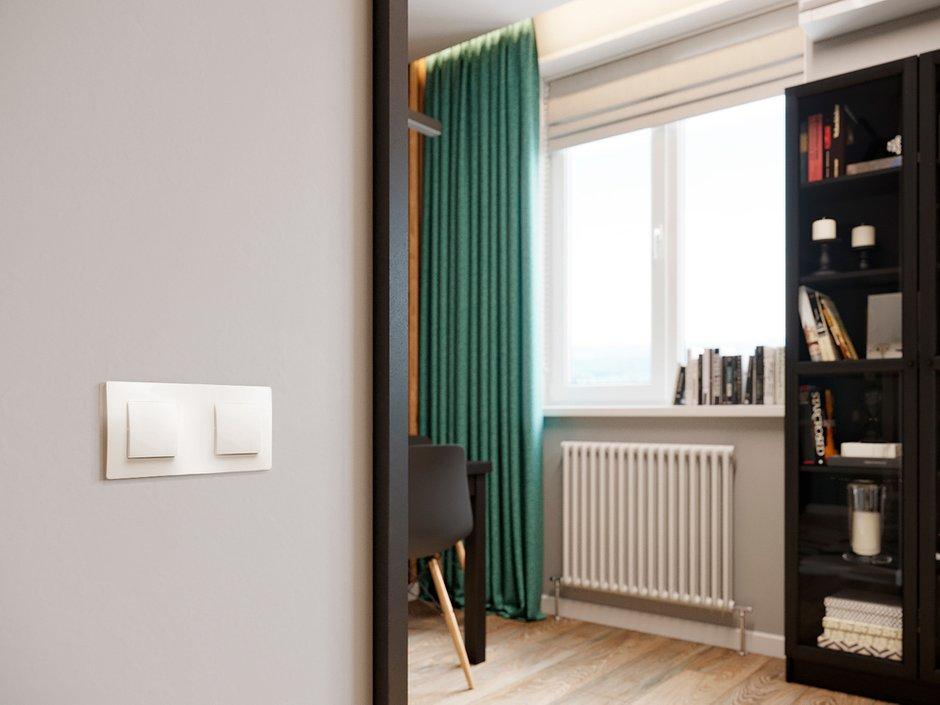 Фотография: Гостиная в стиле Современный, Квартира, Проект недели, Красногорск, Legrand, 1 комната, до 40 метров, Майя Валит, Etika, путешественник – фото на INMYROOM