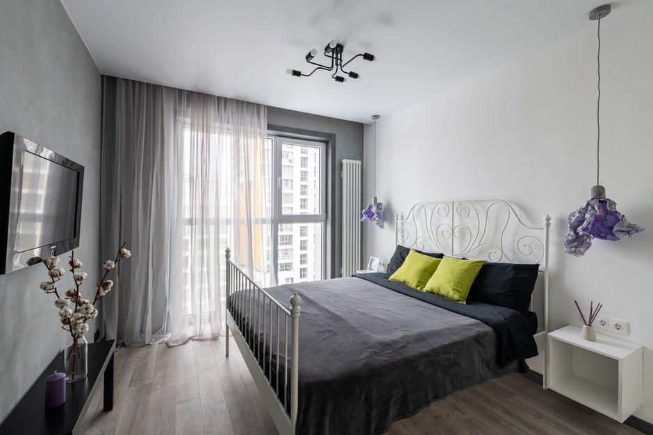 Фотография: Спальня в стиле Современный, Квартира, Минимализм, Проект недели, Балашиха, 1 комната, 40-60 метров, Марина Гри – фото на INMYROOM