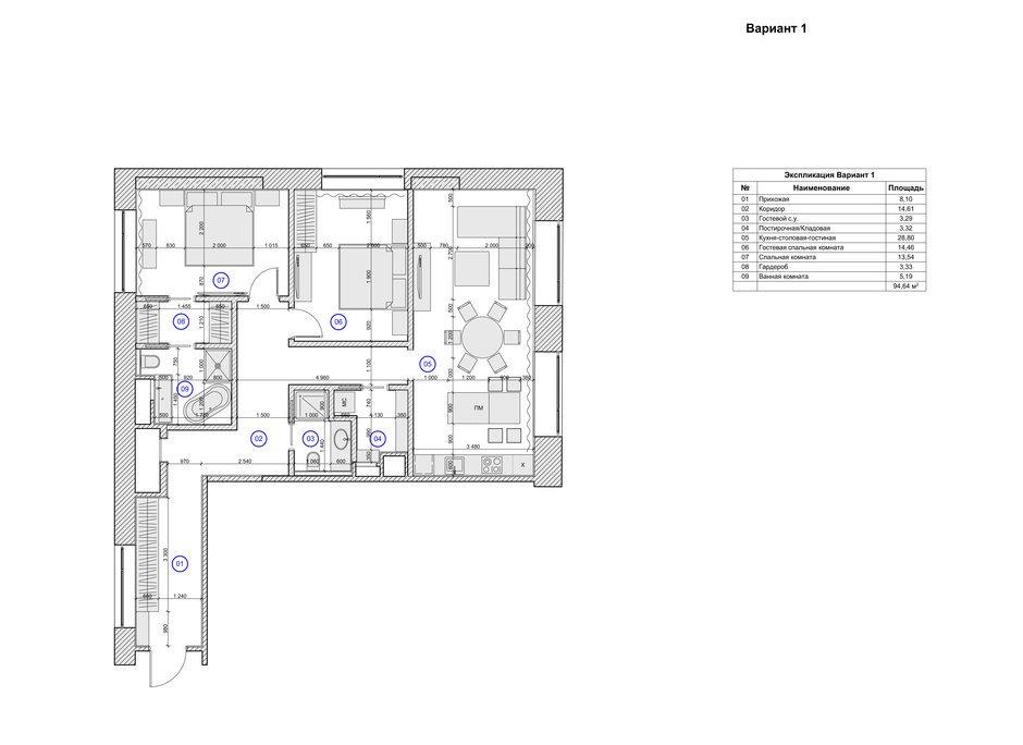 Фотография: Планировки в стиле , Квартира, Проект недели, Москва, Beindesign, ЖК «Резиденция Монэ» – фото на INMYROOM