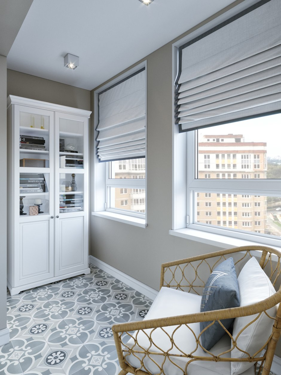 Фотография: Балкон в стиле Скандинавский, Современный, Классический, Проект недели, 1 комната, 40-60 метров – фото на INMYROOM