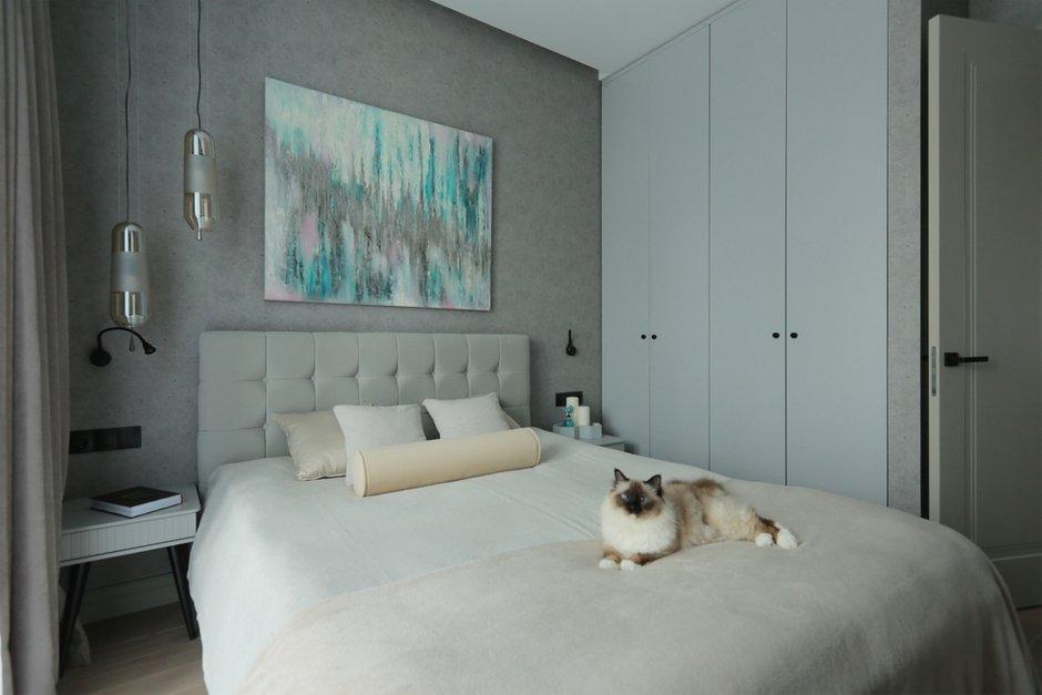 Фотография: Спальня в стиле Современный, Квартира, Проект недели, Москва, 3 комнаты, 60-90 метров, Ирина Сагун – фото на INMYROOM
