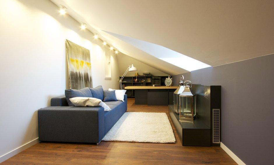 Фотография: Офис в стиле Современный, Дом, Планировки, Мебель и свет, Дома и квартиры, Мансарда – фото на INMYROOM
