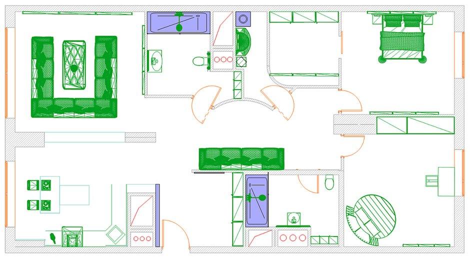 Фотография: Планировки в стиле , Эклектика, Квартира, Дома и квартиры, Минимализм – фото на INMYROOM