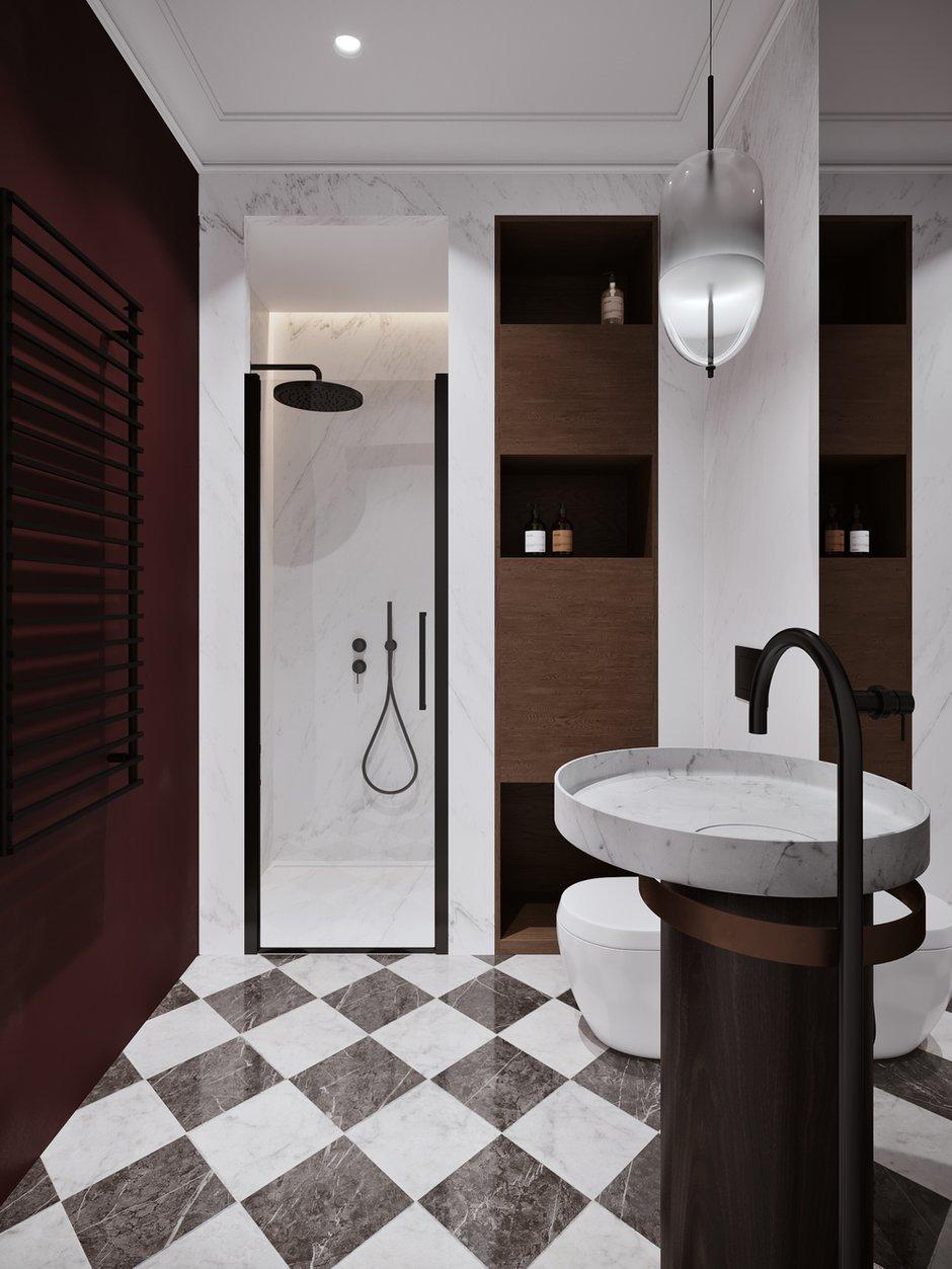Фотография: Ванная в стиле Современный, Квартира, Проект недели, Москва, Айя Лисова, 4 и больше, Более 90 метров, #эксклюзивныепроекты, Aiya Design – фото на INMYROOM