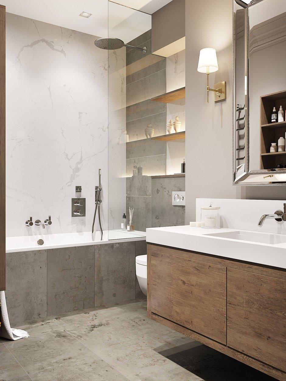 Фотография: Ванная в стиле Современный, Классический, Квартира, Проект недели, Москва, Айя Лисова, ЖК «Фортепиано» – фото на INMYROOM