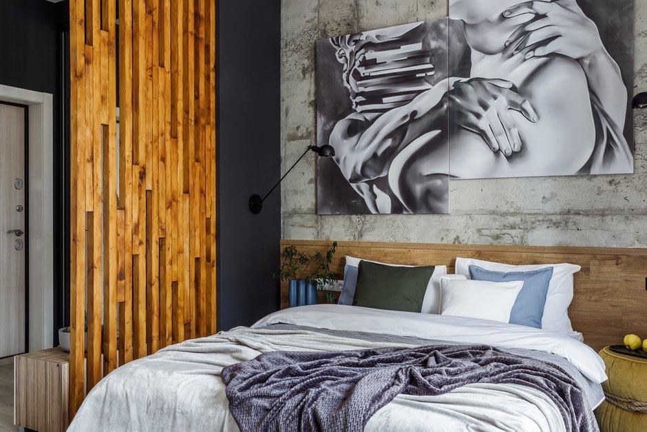 Фотография: Спальня в стиле Современный, Лофт, Квартира, Студия, Проект недели, до 40 метров, Денис Тарасенко, Адлер – фото на INMYROOM