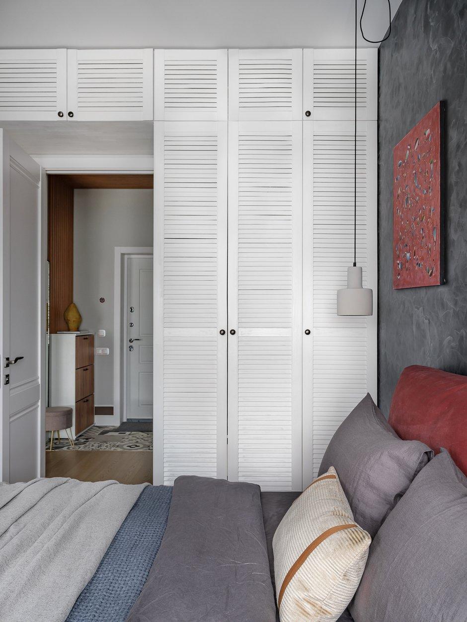 Фотография: Спальня в стиле Современный, Квартира, Проект недели, Москва, 3 комнаты, 40-60 метров, 60-90 метров, Светлана Капустина – фото на INMYROOM
