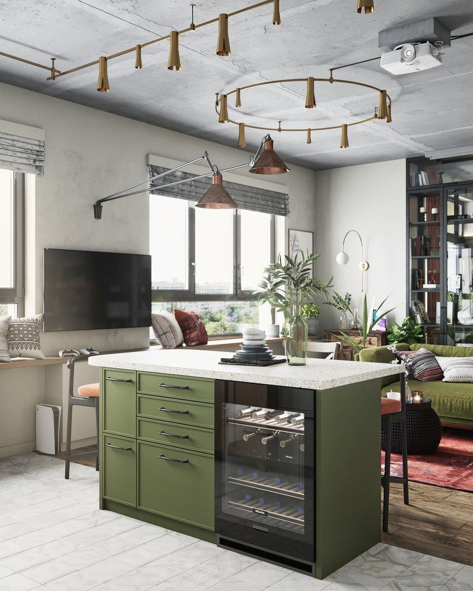 Фотография: Кухня и столовая в стиле Эклектика, Квартира, Проект недели, Москва, ToTaste Studio, 3 комнаты, 60-90 метров – фото на INMYROOM