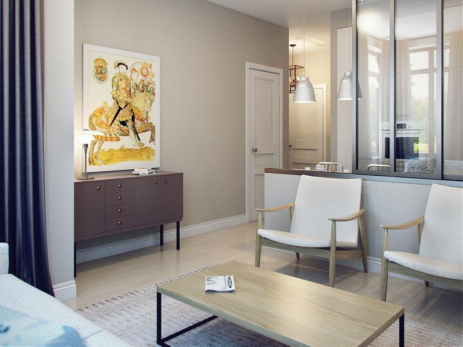 Фотография: Гостиная в стиле Скандинавский, Современный, Малогабаритная квартира, Квартира, Дома и квартиры, Проект недели – фото на INMYROOM