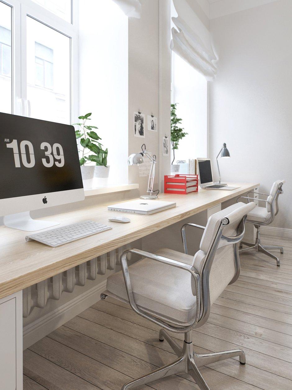 Фотография: Офис в стиле Скандинавский, Квартира, Дома и квартиры, Проект недели – фото на INMYROOM