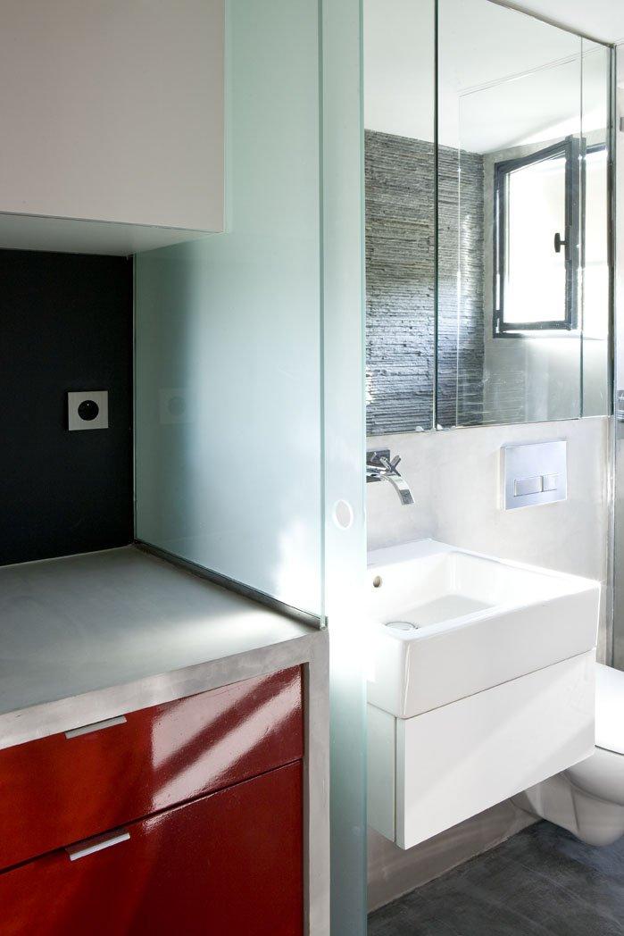 Фотография: Ванная в стиле Современный, Лофт, Малогабаритная квартира, Квартира, Дома и квартиры – фото на INMYROOM