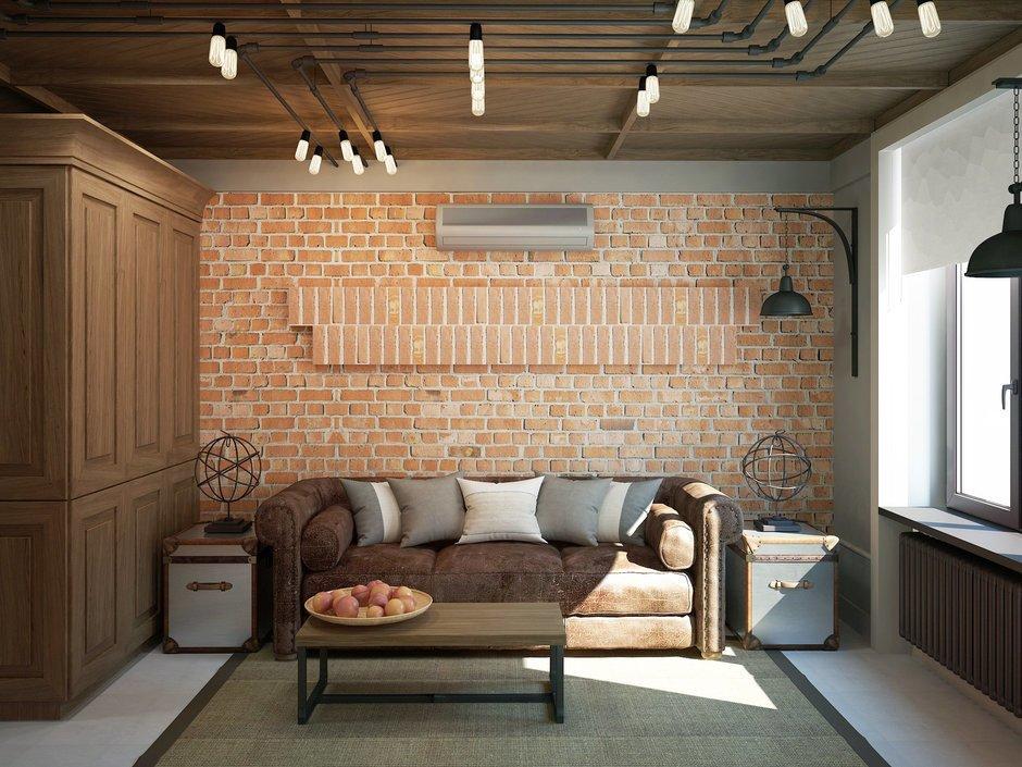 Фотография: Гостиная в стиле Лофт, Квартира, Планировки, Проект недели, Сталинка – фото на InMyRoom.ru