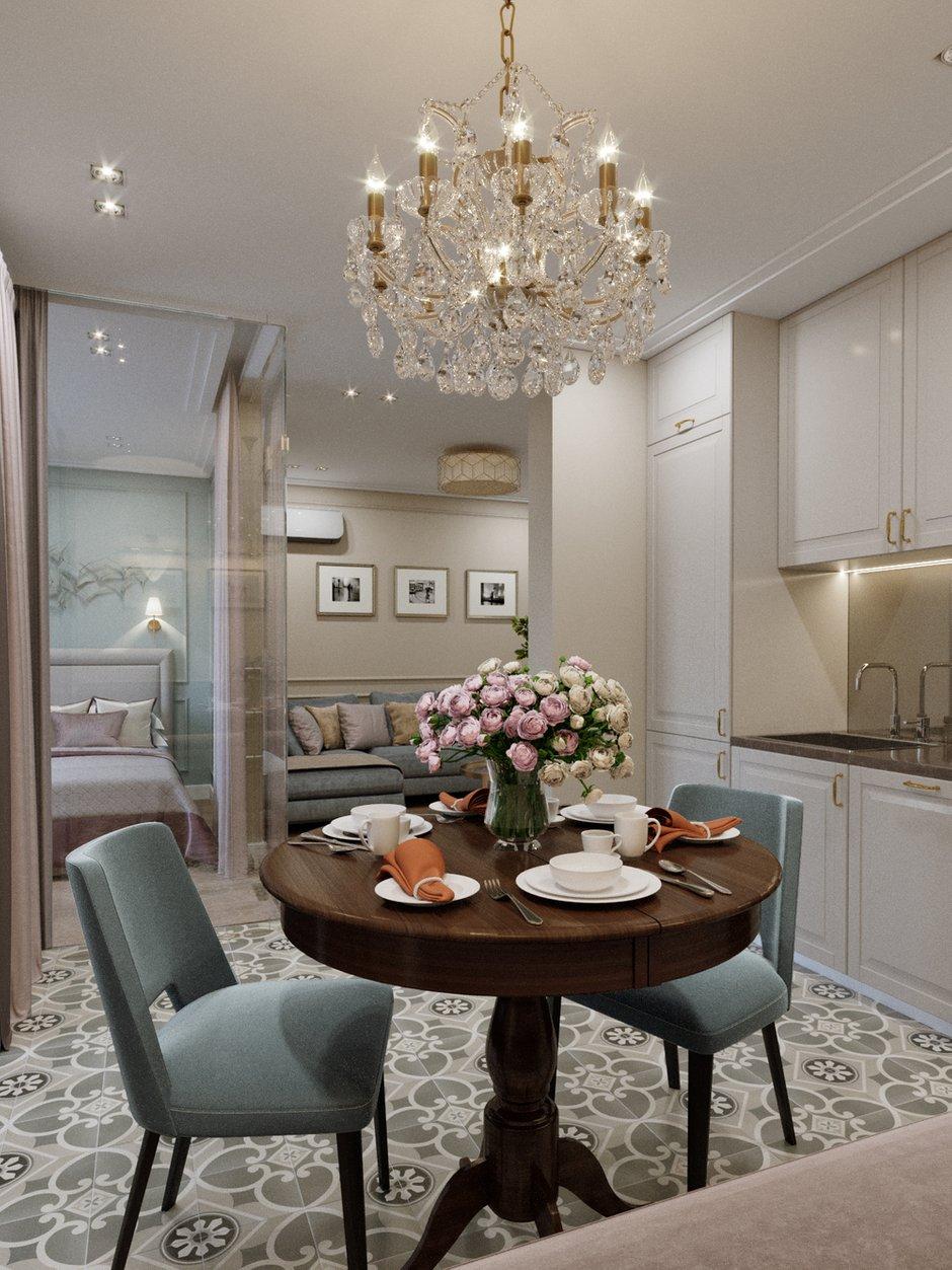 Фотография: Кухня и столовая в стиле Классический, Современный, Проект недели, 1 комната, 40-60 метров – фото на INMYROOM