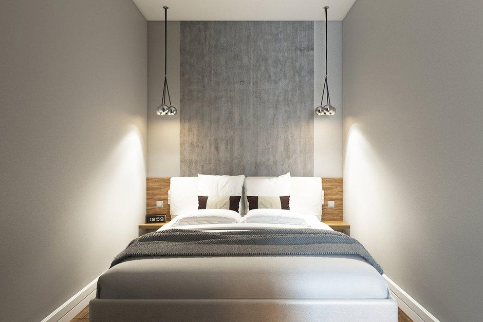 Фотография: Спальня в стиле Лофт, Современный, Квартира, Проект недели, Москва, Желтый, Серый, Инна Усубян, Как создать интерьер для пары, как оформить студию для пары, дизайн квартиры для пары – фото на INMYROOM