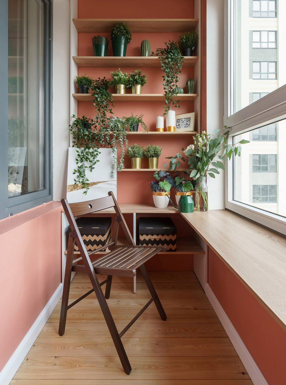 Фотография: Балкон в стиле Современный, Квартира, Проект недели, Санкт-Петербург, 1 комната, до 40 метров, Александра Сакмарова – фото на INMYROOM