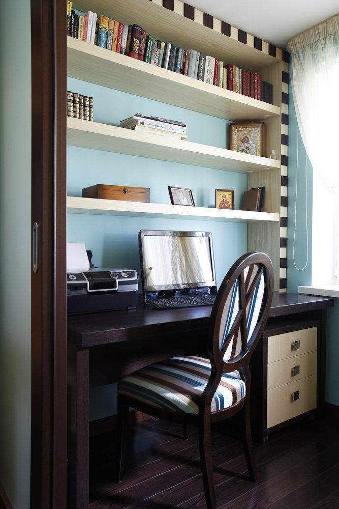 Фотография: Кабинет в стиле Эклектика, Классический, Современный, Квартира, Проект недели – фото на INMYROOM