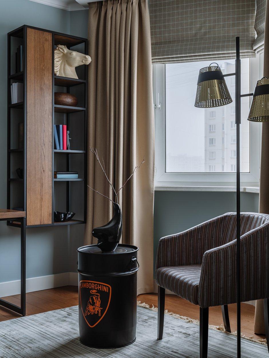 Фотография: Кабинет в стиле Классический, Квартира, Проект недели, Москва, Панельный дом, 4 и больше, Более 90 метров, Наталья Широкорад, П-44Т – фото на INMYROOM