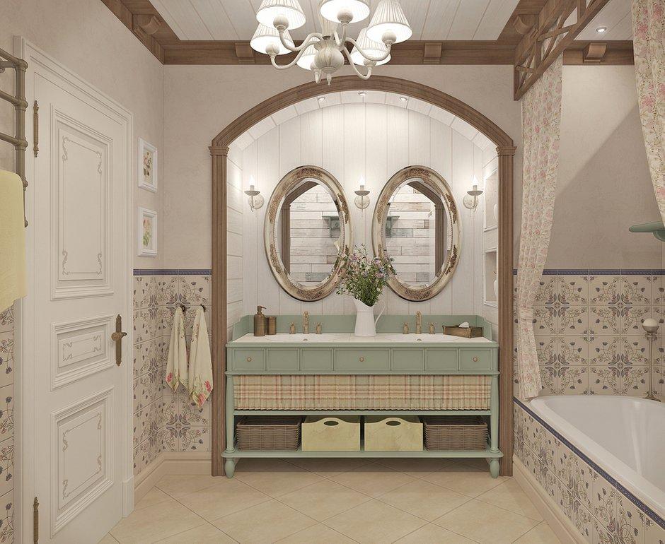 Фотография: Ванная в стиле Прованс и Кантри, Квартира, Дома и квартиры, Прованс, Проект недели – фото на INMYROOM