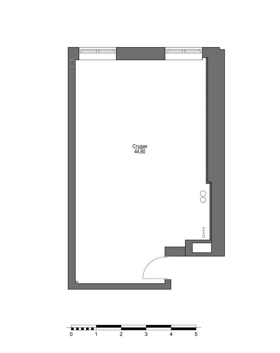 Фотография: Планировки в стиле , Квартира, Студия, Проект недели, Москва, Кирпичный дом, 40-60 метров, Юлия Сологубова – фото на INMYROOM