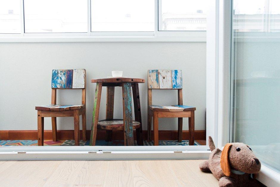 Фотография: Балкон в стиле Лофт, Скандинавский, Современный, Квартира, Проект недели – фото на INMYROOM