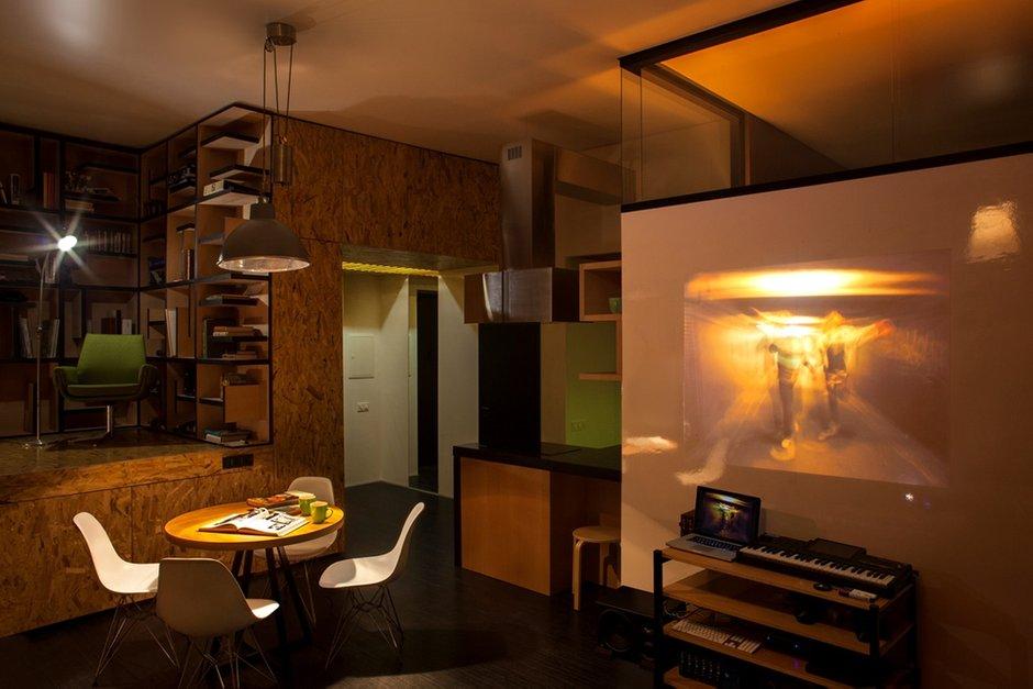 Фотография: Кухня и столовая в стиле Современный, Малогабаритная квартира, Квартира, Украина, Vitra, Дома и квартиры, Перепланировка, Библиотека, Киев, Подиум – фото на INMYROOM