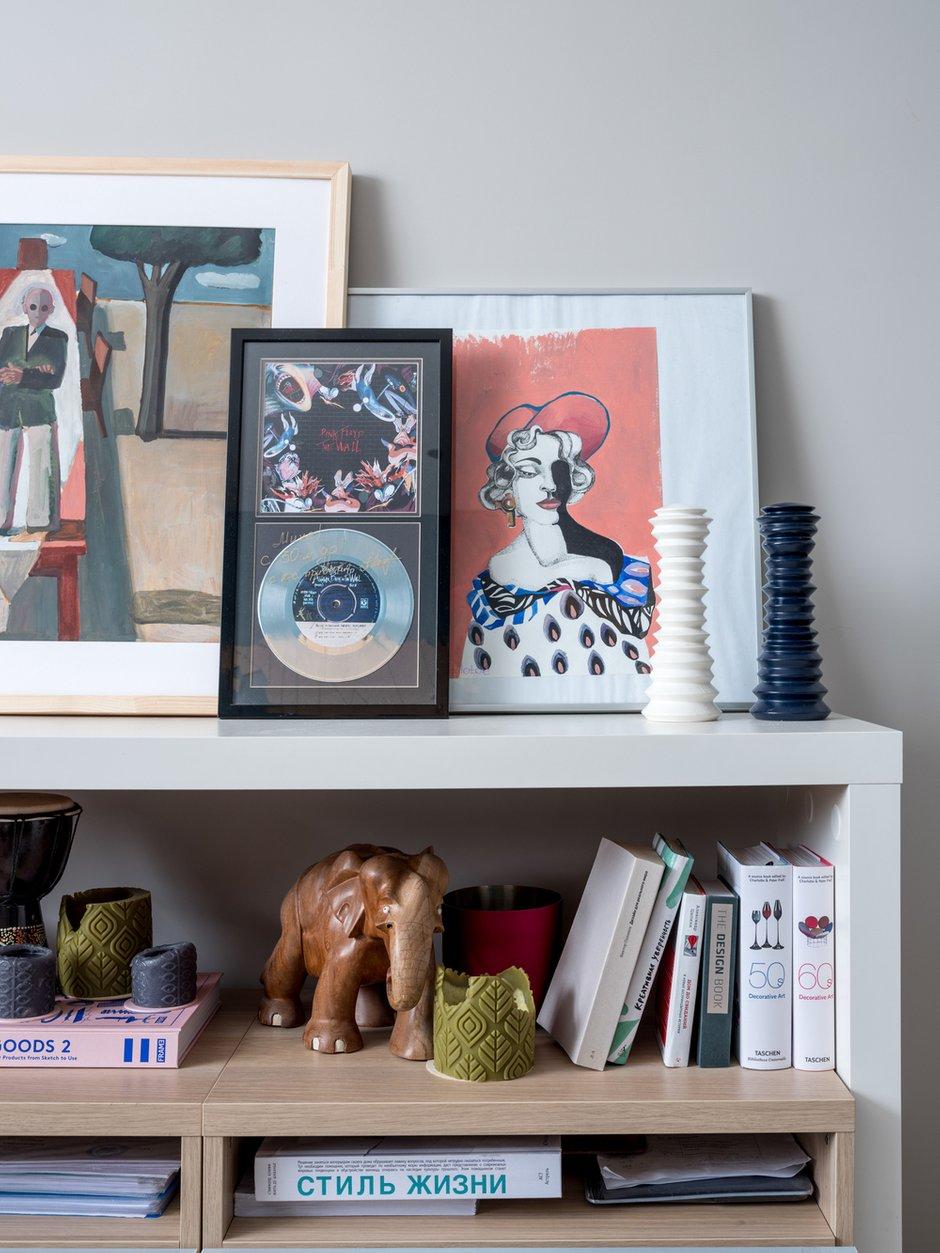 Фотография: Декор в стиле Современный, Квартира, Проект недели, Москва, Панельный дом, 1 комната, 40-60 метров, Анастасия Брандт – фото на INMYROOM