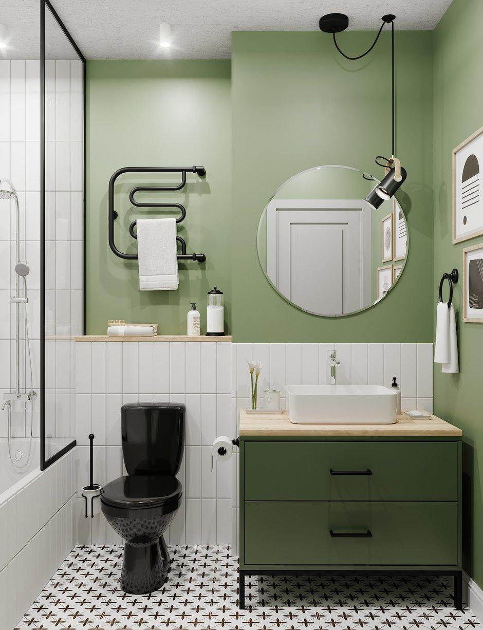 Фотография: Ванная в стиле Скандинавский, Гостиная, Квартира, Проект недели, 1 комната, до 40 метров, Тольятти – фото на INMYROOM