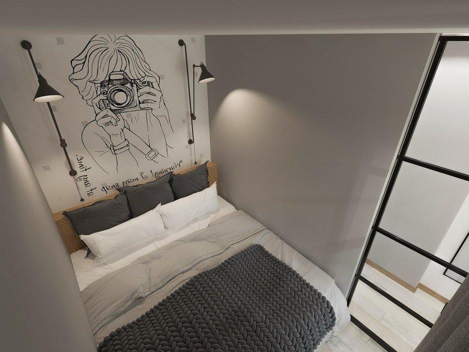 Фотография: Спальня в стиле Современный, Квартира, Проект недели, Зеленый, Бежевый, Серый, 60-90 метров, ПРЕМИЯ INMYROOM, Bilbao Design – фото на INMYROOM