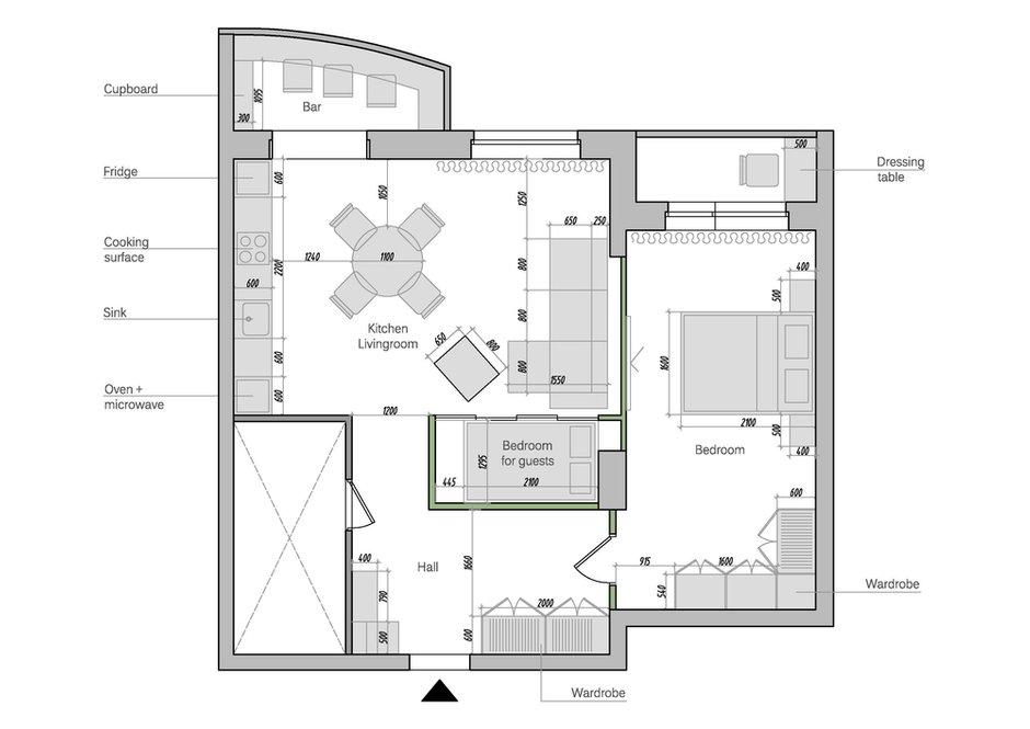 Фотография: Планировки в стиле , Квартира, Проект недели, Краснодар, Екатерина Домрачева – фото на INMYROOM