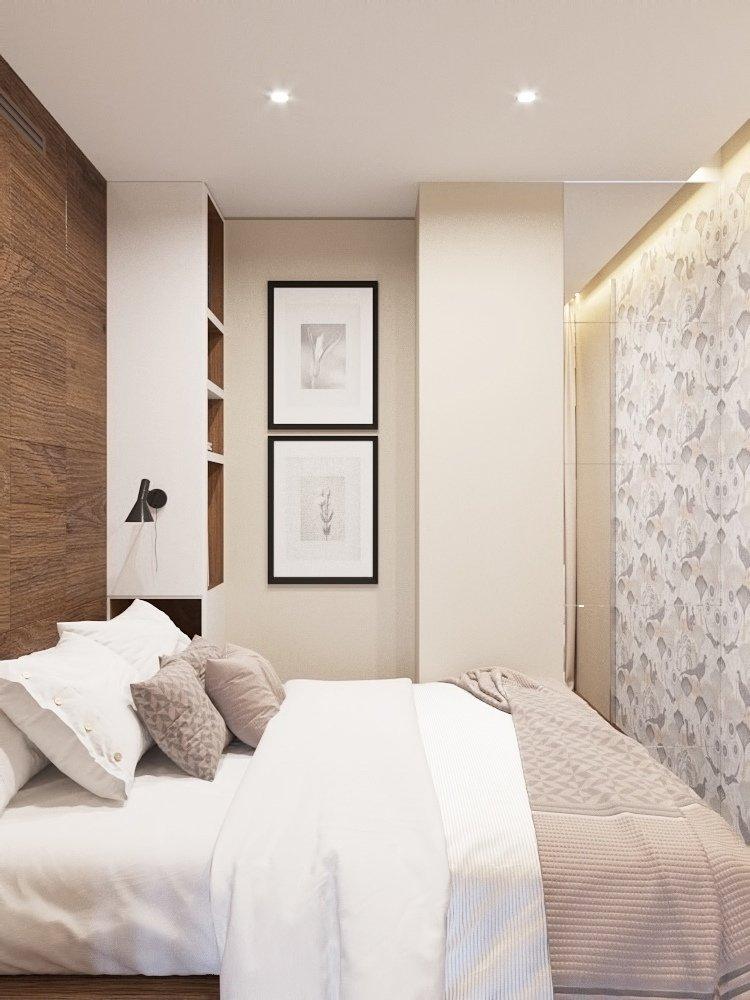 Фотография: Спальня в стиле Современный, Квартира, Проект недели, Химки, Монолитный дом, 3 комнаты, 60-90 метров, Анна Русскина – фото на INMYROOM
