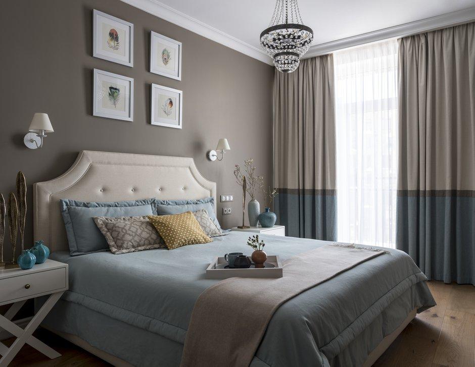 Фотография: Спальня в стиле Скандинавский, Квартира, Проект недели, Мила Колпакова, Мытищи, Монолитный дом, 3 комнаты, 60-90 метров, ЖК «Квартал 9-18» – фото на INMYROOM