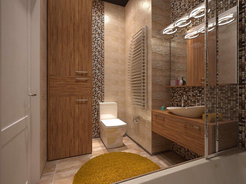 Фотография: Ванная в стиле Лофт, Квартира, Дома и квартиры, Перепланировка, Москва, Стена, Перегородки – фото на InMyRoom.ru