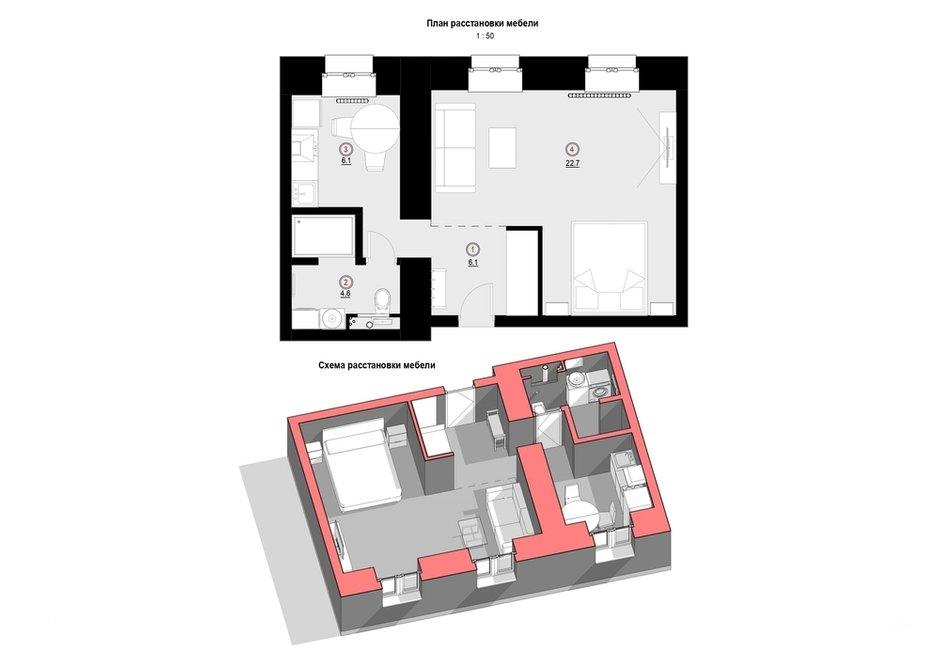 Фотография: Планировки в стиле , Лофт, Декор интерьера, Квартира, Кирпичный дом, 1 комната, до 40 метров, #каксэкономить, Псков, Екатерина Евдокимова – фото на INMYROOM